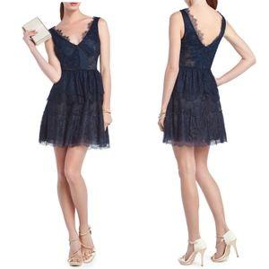 NWOT BCBGMAXAZRIA Willa Carbon Lace Cocktail Dress